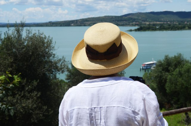 ...view with a new hat of my friend