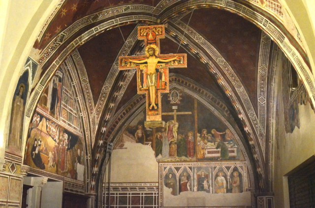 all paintings in the lower and upper Basilica represent Saint Francis pilgrimages